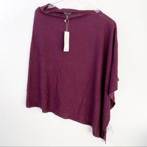 NWT Eileen Fisher Silk & Organic Linen Poncho O/S